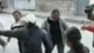 Rondas urbanas de Cajamarca capturan y azotan a ladrón de taxis