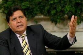 Presidente García podría asistir como testigo en caso Business Track