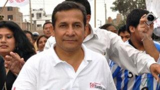 Ollanta Humala tuvo el primer contacto con la presa desde los exteriores de su casa