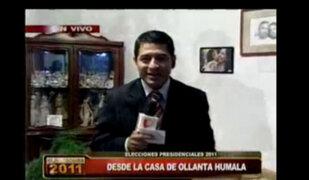Preparativos para el desayuno familiar de Ollanta Humala en Surco