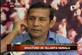 """Ollanta Humala: """"Invoco a los ciudadanos a vivir la fiesta electoral y que gane el mejor"""""""