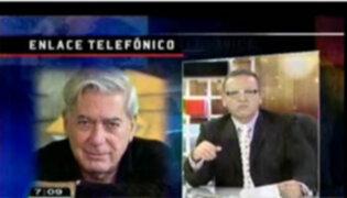Mario Vargas Llosa dice que será un ciudadano vigilante del Gobierno de Ollanta Humala