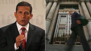 Ollanta Humala pide calma al país tras derrumbe de la Bolsa de Valores Lima