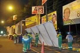 San Miguel inicia el retiro de propaganda electoral tras comicios electorales