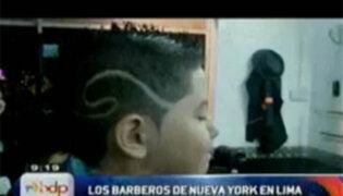"""Originales diseños de los """"Barberos de Nueva York"""" causan sensación en Lima"""