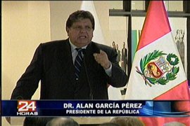 Presidente García pide a empresarios privados continuar con la generación de empleos