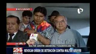 Walter Aduviri abandona las instalaciones de Panamericana Televisión
