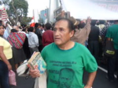 Seguidores de Velasco Alvarado apoyaron protesta Aymara