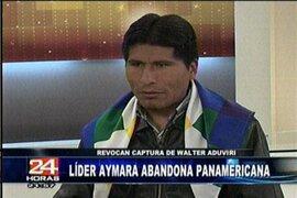 El recuento de los hechos protagonizados por el líder Aimara Walter Aduviri en Panamericana