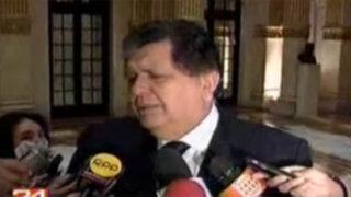 Presidente García desea pronta recuperación al mandatario venezolano Hugo Chávez