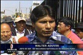Líder aimara Walter Aduviri rechazó propuesta del Ministerio de Energía y Minas