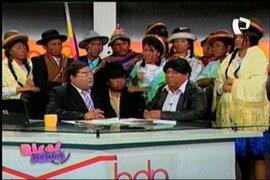 Walter Aduviri en Panamericana Televisión al estilo de Risas y salsa