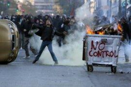 Protestas en Grecia por el nuevo gobierno socialista de Giorgos Papandréou