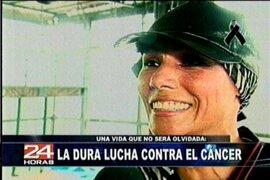 """Los últimos años de """"Chelita"""" y su lucha contra el cáncer"""