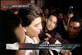 Havier Arboleda esposo de Analí Cabrera se quebró en el velorio de la actriz
