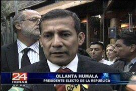 JNE entregó a Ollanta Humala sus credenciales como Presidente de la República electo