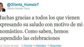 Presidente electo Ollanta Humala agradeció saludos por su onomástico