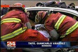 Conductores ebrios chocaron en la carretera Panamericana Norte