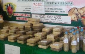 Policía incautó 56 kilos de drogas en el ingreso a Matucana