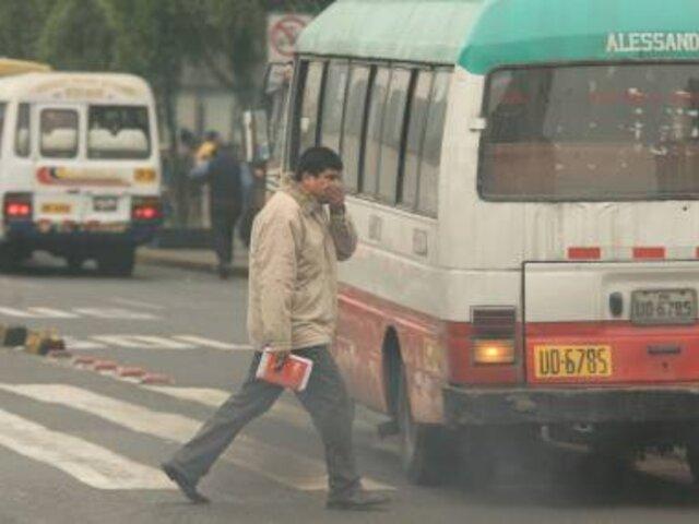 Senamhi indicó que la contaminación en el aire limeño presenta mayor concentración