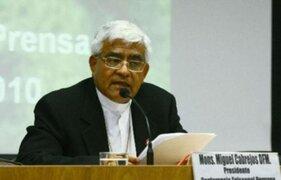 Conferencia Episcopal ofreció apoyo al nuevo Gobierno