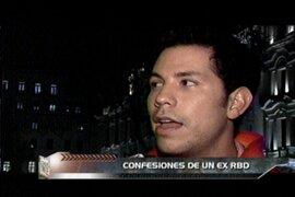 Ex integrante del grupo RBD Christian Chávez causó sensación en el set de Enemigos Públicos