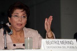 """Beatriz Merino respalda a Humala y pide al Congreso """"rectificar"""""""