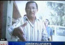 Informe sobre el nacionalista Adrián Villafuerte relacionado con un comandante de Montesinos