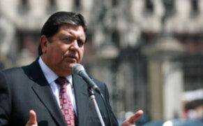 Presidente Alan García ratifica decisión de no asistir al cambio de mando