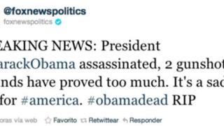 Hackers accedieron a cuenta Twitter de la televisora Fox News y anunciaron la muerte de Obama