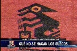 Presidente Alan García dispuesto a recuperar telares de Paracas mostrados en museo de Suecia