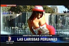 Vedettes peruanas acompañan a la selección en Argentina y hacen una promesa si seguimos en carrera