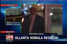 Presidente electo Ollanta Humala regreso a Lima sin declarar a la prensa