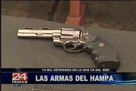 Armas de guerra y más de 120 kilos de drogas incautados por la Policía Nacional en Lima