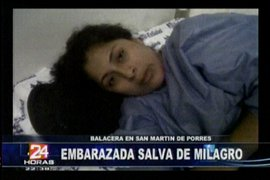 Mujer embarazada fue víctima de un tiroteo en SMP