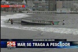 Por oleaje anómalo desapareció pescador en el mar de Ancón