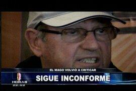 Sergio Markarián ratificó opiniones sobre el arbitraje en el último partido de Perú