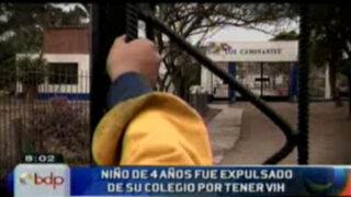 Denuncian que niño de cuatro años fue expulsado de colegio religioso por tener VIH