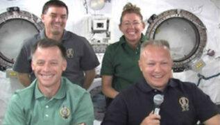 Astronautas del Atlantis ofrecieron entrevista donde indican que han hecho un viaje histórico