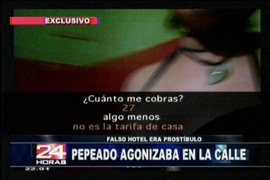 """""""Pepean"""" a joven en prostíbulo clandestino de Breña"""