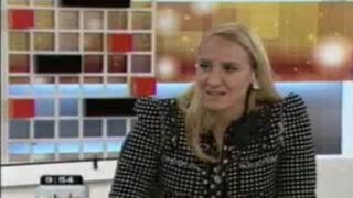 Giulia Sammarco comenta sobre el protocolo durante la transferencia de mando