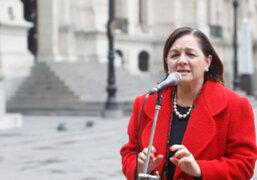 Ministra Rosario Fernández deseo éxito a su sucesor Salomón Lerner Ghitis vía telefónica