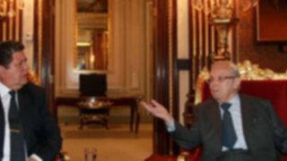Embajador Javier Pérez de Cuellar se reunió con el presidente Alan García
