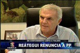 Se confirma renuncia de Javier Reátegui a la Secretaria General de Perú Posible