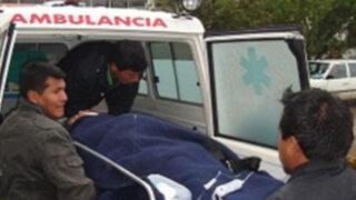 Choque entre un bus y camión dejó siete heridos en la ciudad de Huamachuco
