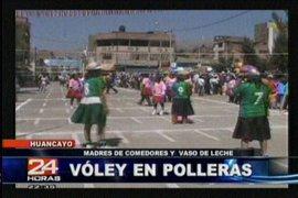 Singular torneo de voleibol con polleras en la región Junín