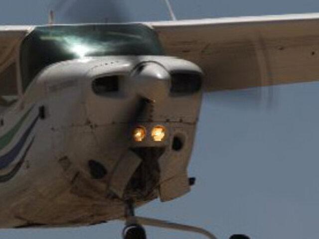 Avioneta aterrizó de emergencia en localidad de Coronel Portillo en Pucallpa