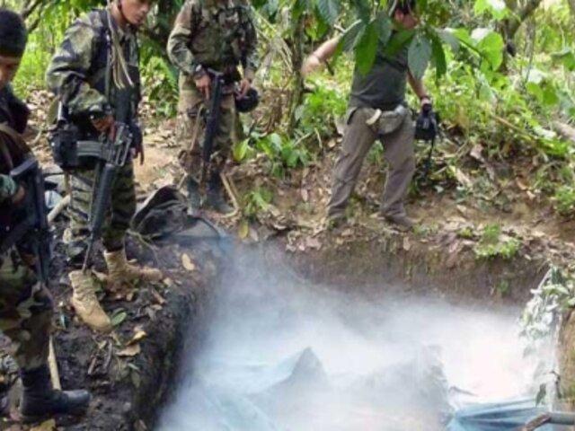 Destruyen siete laboratorios de droga en el Frente Huallaga