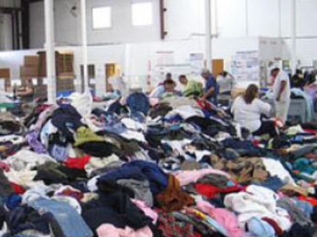 Comando contra el Contrabando de Arequipa incautó ropa usada valorizada en 120 mil dólares