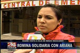 Mamá de Romina expresó su solidaridad con el congresista Renzo Reggiardo